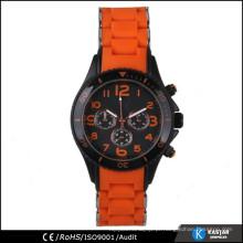 Caixa de aço inoxidável relogio relógio relógio de moda à prova d'água