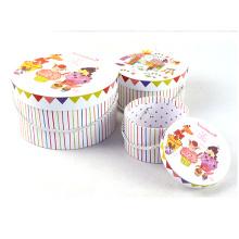 Set de caja redonda de impresión de dulzura con mango