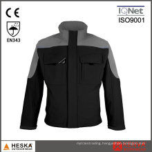 Contrast Cargo Heavy Duty Softshell Work Coat