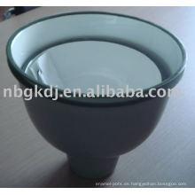 Tonos de lámparas de esmalte con interior blanco y gris extrerior