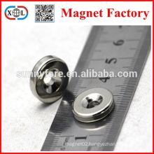 N35 round neodymium countersunk magnet with hole