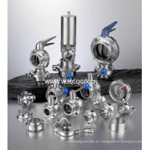 Acessórios e válvulas para tubos de aço inoxidável higiênico