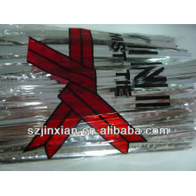4mm metallic silver twist ties for candy cello bags