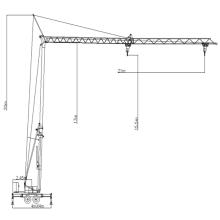 Construction Topless tower crane mobile crane