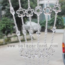 Latest Design Flower Style Acrylic Crystal Bead Decoration Curtain