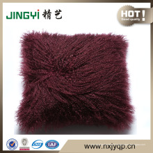 Coussin et oreiller de peau de mouton mongol australien / tibétain
