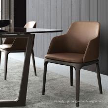 Madeira da cinza nórdico de jantar cadeira Ikea