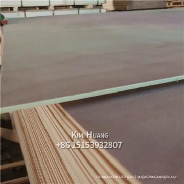 China fabricante de venta Poplar Core E1 pegamento Bingtangor contrachapado okoume madera contrachapada