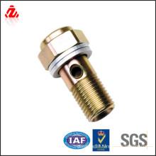 custom high strength gold plated bolt