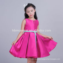 High Quality Rose Red Color Sleeveless Custom Clothing New Model Girl Dress