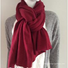 Lady Fashion Burgundy Cashmere Knitted Scarf (YKY4387-4)