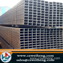 "4"" 6"" 10"" Welded Black Square Steel Pipe"