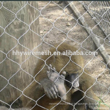 Animal enclosure mesh zoo mesh netting ferruled rope mesh cable netting