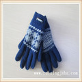 knitted wool gloves with isolating lining