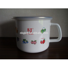 china wholesale common style cast iron enamel customized mugs