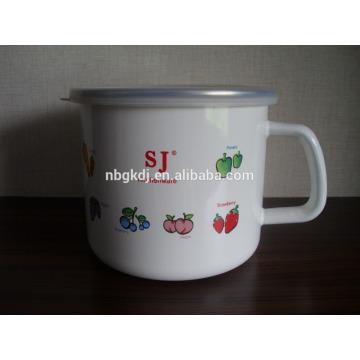china wholesale common style cast iron enamel customized mugs