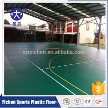Anti-shock pvc vinilo gymnasium / suelo de baloncesto que cubre