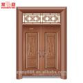 Culrural Подгонянная Стальная Входная Двойная Дверь Удачи И Счастья Безопасностью Благородный Декоративный