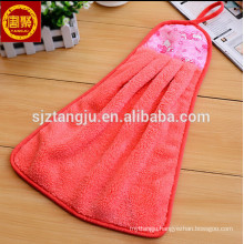 cute hand towel,hand towel with hook,colorful hand towel