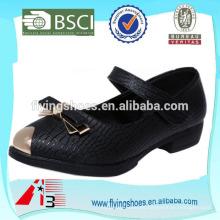 Zapato de cuero de la escuela del niño del bebé de VELCRO de la suposición para las muchachas