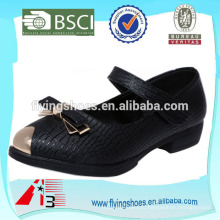 Fancy VELCRO детская школьная кожаная обувь для девочек