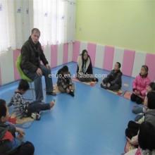 Solid color Kids kindergarten used PVC floor