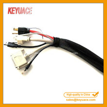 Расширяемый плетеный защитный рукав для кабеля из ПЭТ