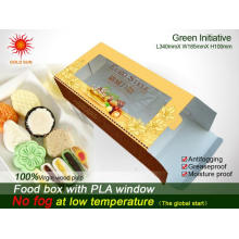 Triangle Cheap Fast Food Emballage Boîte avec fenêtre anti-buée