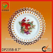 8.7 Inch antique hand painted fruit vinegar decorative ceramic plate