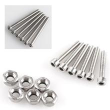 Tornillo Allen de acero inoxidable y acero al carbono DIN912