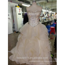 Elegent Vestido de Baile vestido de novia Floral Lace piso de longitud de encaje vestido nupcial P105