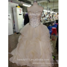 elegent Ball Gown Wedding Dress Floral Lace Floor-length Lace bridal gown P105