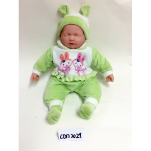 "18"" Green Clothes  Baby Vinyl Doll"