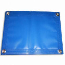 Tarpaulin, Made of PVC Film and Polyester Yarn, with Fire Retardant/Ultra Violet Protection