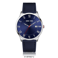 montre japonaise en quartz en cuir au mouvement occidental