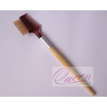 Bamboo Handle Comb Brush Eyebrow Makeup Brush
