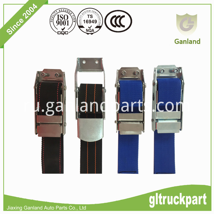 Side curtain tension straps
