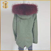 Manteaux de mode de vente directe en usine Genuine Fox Thick Women Fur Parka