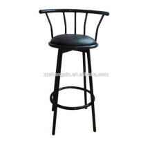 Backrest Swivel Metal Bar Chair with Sponge for Bar