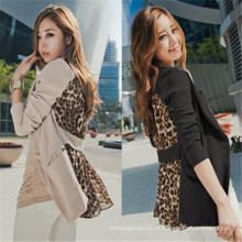 2015 moda chiffon sexy leopardo mulheres lazer ternos (50021)