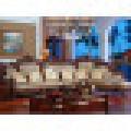 Leather Corner Sofa with Wood Sofa Frame (D805)