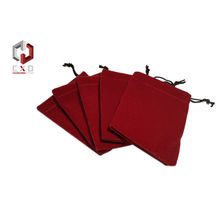 Red Thick Velvet Pouch With Embroidery Logo For Mobile Phone