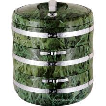 3 couches avec boîte à lunch en plastique en acier inoxydable