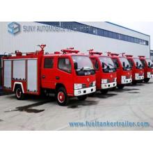 Camion de combat d'incendie de réservoir d'eau et de mousse de Dongfeng 2cbm 3cbm