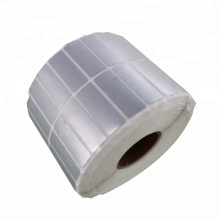 Matt silver Waterproof  Polyester  Silver PET bacode label