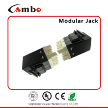 China Manufacturing New Style 90 graus 8p8c Toolless RJ45 Cat6 Keystone Jack