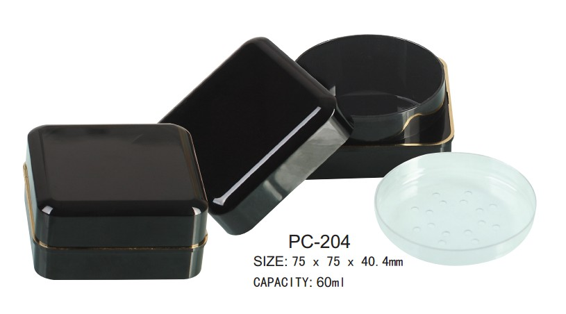 empty square cosmetic loose powder case
