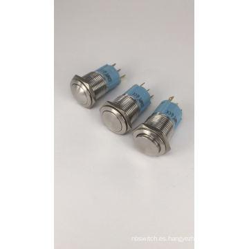 Interruptor de botón de acero inoxidable o cobre impermeable IP67 24 voltios