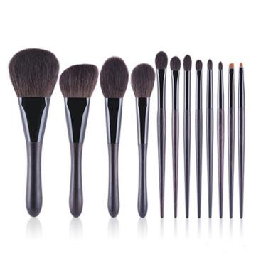 12pcs escovas de cabelo natural macio kit de escovas cosméticas
