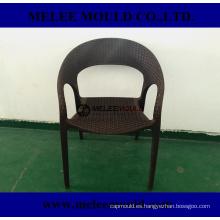 Molde de silla tejida patio de plástico al aire libre